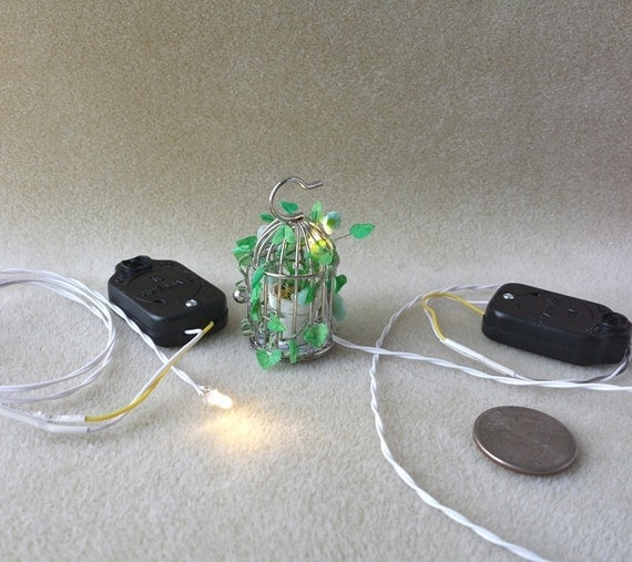 Dollhouse Miniatures Battery Lights: DIY Supplies For Dollhouse LED Light / On Off Switch Battery