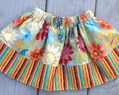 Girls Elastic Waist Boutique Style Twirl Skirt Size 6 - 12 months ready to ship
