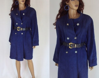 coat blue WEILL  Vintage coat French  SIZE-S  wool coat   1970s