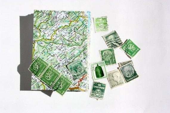 Stationery set - 6 envelopes, note cards and envelope seals