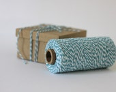 Ocean Teal Green & White Bakers Twine - 10 metres - Perfect for Gift Wrapping or Crafts
