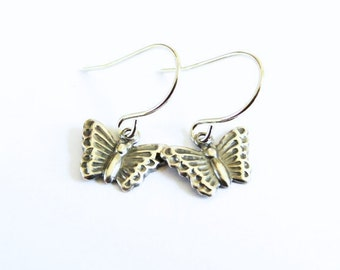 Butterfly Earrings- Silver or Titanium Dangle EarringsBlack Friday Sale 20% Off
