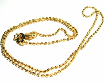 Gold Filled Beaded chain for pendants - 14kt GOLD - 16 INCH