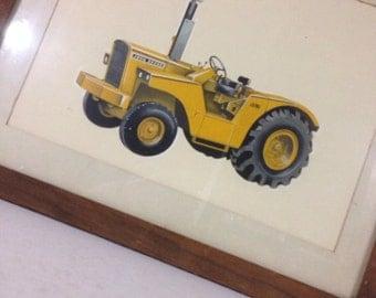 Vintage Framed Print John Deere Tractor