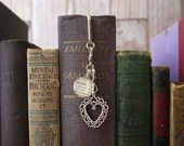 Custom Bookmark Dictionary Glass gem with silver-tone charm godmother, mother, mother-in-law, sister, aunt, niece, daughter, god daughter