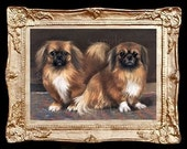 Pekingese Dogs Miniature Dollhouse Art  Picture 1704