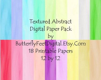 Digital Textured Background Papers for Scrapbooking, Card Making, Paper Crafting