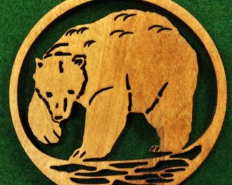 Wood Bear Ornament