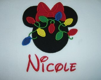 Personalized Minnie Mouse Christmas Lights Shirt MVMCP