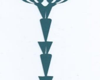 Easter key silhouettes set of three