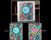 CJ~Personalized Monogram Notebook Insert for 3 Ring Binder or Printable