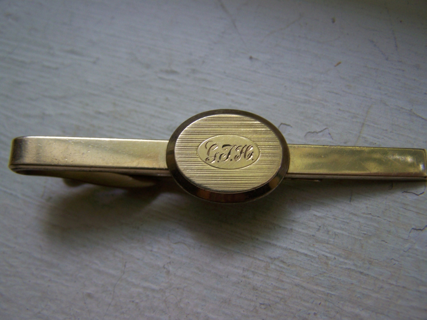 gold 10k gf hickok tie clip engraved by mattegold on etsy