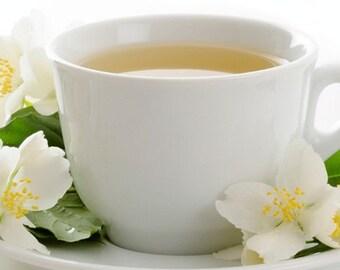 BODY SCRUB ~ White Tea Body Scrub Sugar or Sea Salt Body Polish 8 oz