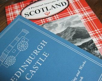 Vintage 1950's Scottish Souvenir Guide Books