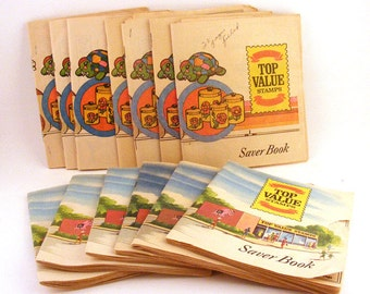 Vintage Top Value Stamps Saver Books Paper Ephemera Lot of 13