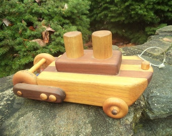 Sale - vintage wooden steam boat pull toy