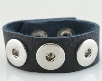 Snap Jewelry. Noosa Style Leather Bracelet Will fit Ginger snaps charms and other 18-20 mm snap charms.