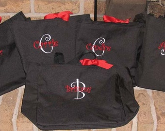 Personalized Embroidered Essential Tote Bag - Great bridal parties, clubs, teams or add your own design