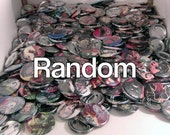 """5 Mixed Comic Book 1.5"""" Buttons// DC, Marvel, Image, Dark Horse, and Pop Culture"""