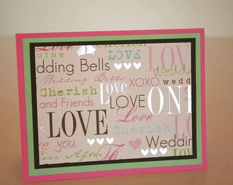 Wedding Card- Foiled Wedding Words