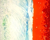 """Huge original abstract """"Martian Tsunami""""  31.5"""" x 39.5""""  acrylic and epoxy ONE OF A KIND painting on duck canvas."""