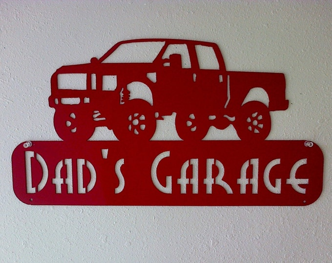 Personalized Man Cave Ford F250 Truck Garage Sign