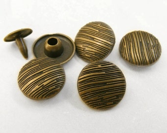 10sets 12mm VINTAGE rock texture studs Rivets Nailheads decorating item for leathercrafts