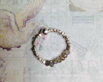Labradorite & Karen Hill Tribe Silver Ring
