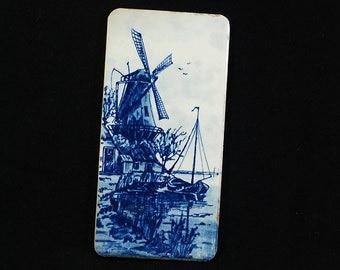 Vintage Delft Tile Windmills Holland
