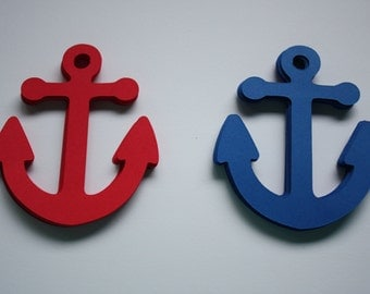 18 x Anchor Die Cuts - Navy and Red