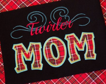Twirler Mom Applique Machine Embroidery Design - 4 Sizes