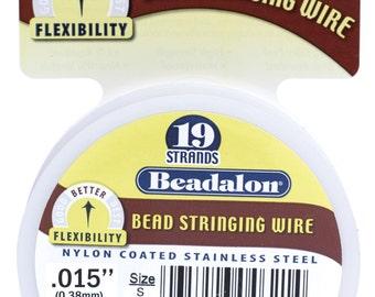 Beadalon Beading Wire - 19 Strand .015 - 30 foot Spool