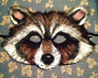 Child Sized Rocket Raccoon Inspired Mask, rocket raccoon costume, child costume, child mask, animal costume, guardians of the galaxy 2
