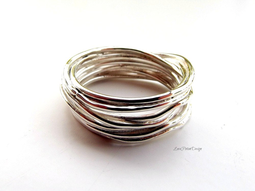 sterling silver soldered multi ring by ateliermediterraneo