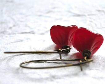 Dangle Earrings Jewelry, Czech Glass Earrings, Flower Earrings Jewelry, Earrings, Dangle Earrings, Gift for Her, Gift Box