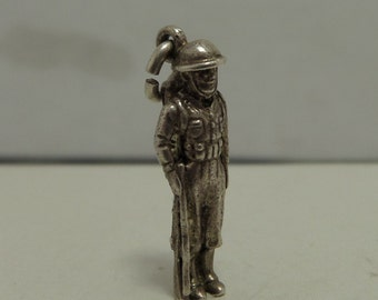 WWI SOLDIER in UNIFORM Sterling Silver Charm