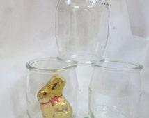 French Yogurt Jars-6 Small Glass Jar Set for Crafts-DIY Easter Candy Favor Jar-Small Candle Jar-Mini Mason Jar-Glass Jam Jars-Lids Available