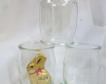 French Yogurt Jars-6 Small Glass Jar Set for Crafts-DIY Easter/Wedding Favor Candy Jar-Small Candle Jar-Mini Mason Jar-Small Glass Jam Jar