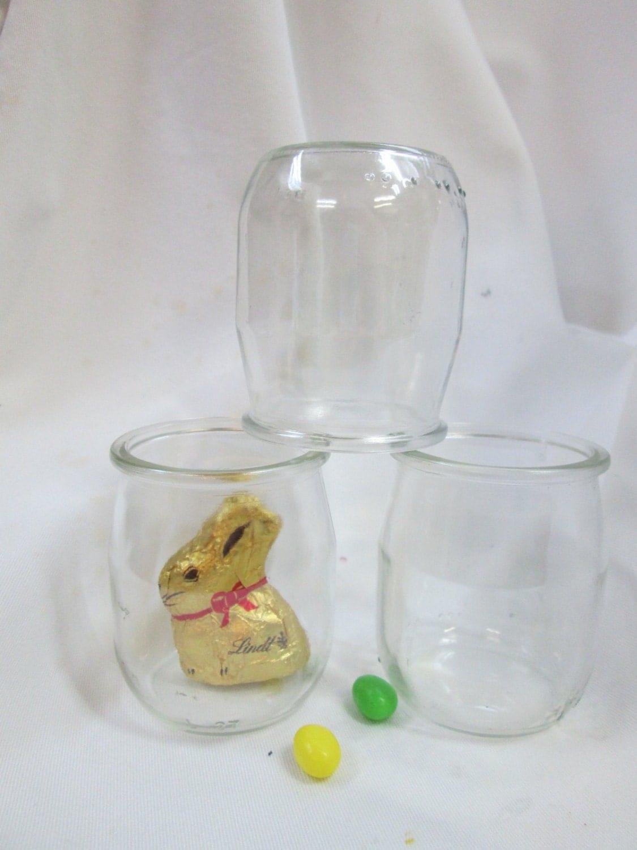 set of 6 glass jars with plastic lids 140 ml glass jar rustic. Black Bedroom Furniture Sets. Home Design Ideas