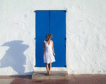 Linen Dress/ White Short Dress / Summer Dress /White Pure Linen Dress/ Casual Wedding /  Beach Wedding Dress / Beach Wedding