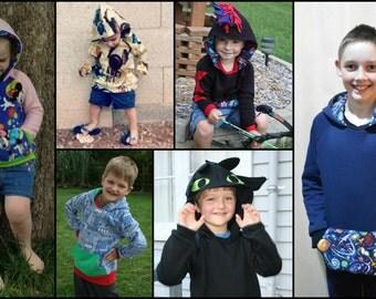 Street Smart Sweatshirt Collection pattern & tutorial - NB-12 yrs - Girl or Boy - By LittleKiwisCloset