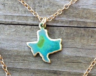 Tiny Texas Patina Necklace