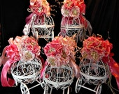 Baptism centerpiece of Cinderella carriage or for  Fairy tale Wedding, Bridal shower Birthday, baby shower centerpiecets ,