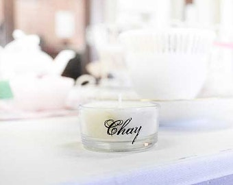 Personalized name place candles - set of 6