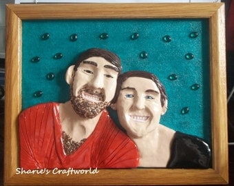 Memorabilia Sculptures, Custom Request, OOAK, 3D, Clay Portrait, Wall Decor, Personal, Baked Clay, Special Order, Collectible Gift,