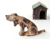 Vintage Lead Dog Hound Dog and House