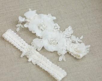 Bridal garter set, Wedding garter set, Bridal Garter , Lace Garter, Wedding garter , lace garter set, Lace bridal garter ,  Floral garter