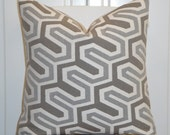 Decorative Pillow Cover - Geometric - Accent Pillow  - Grey - Taupe - Chair Pillow - Accent Pillow - Sofa Pillow