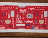 SHOP CLOSING SALE - 4th of July Table Runner