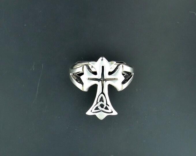 Celtic Cross Ring in Sterling Silver